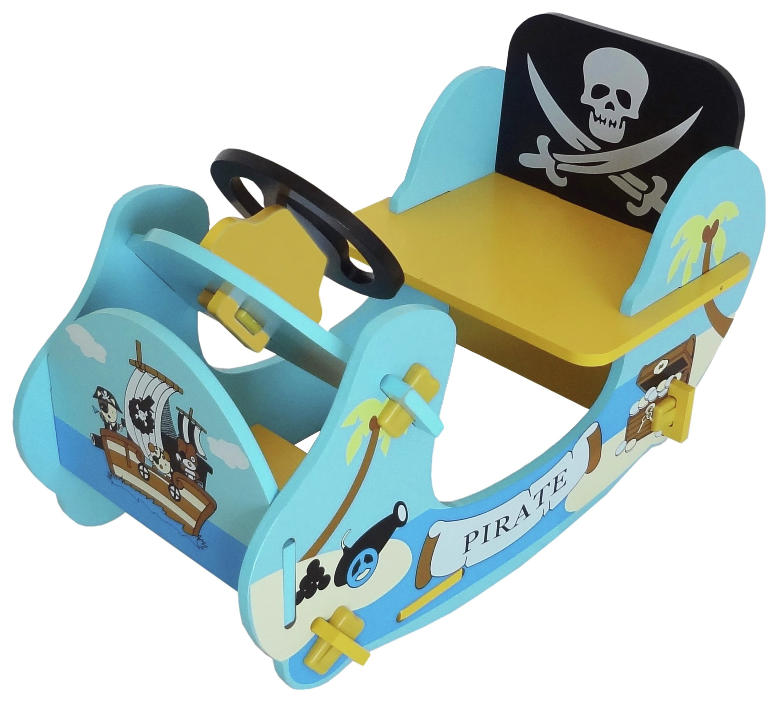 Image of Kiddi Style Pirate Rocking Boat - Blue