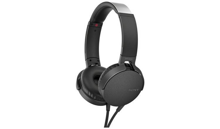 Buy Sony Mdr Xb550ap On Ear Headphones Black Headphones And Earphones Argos