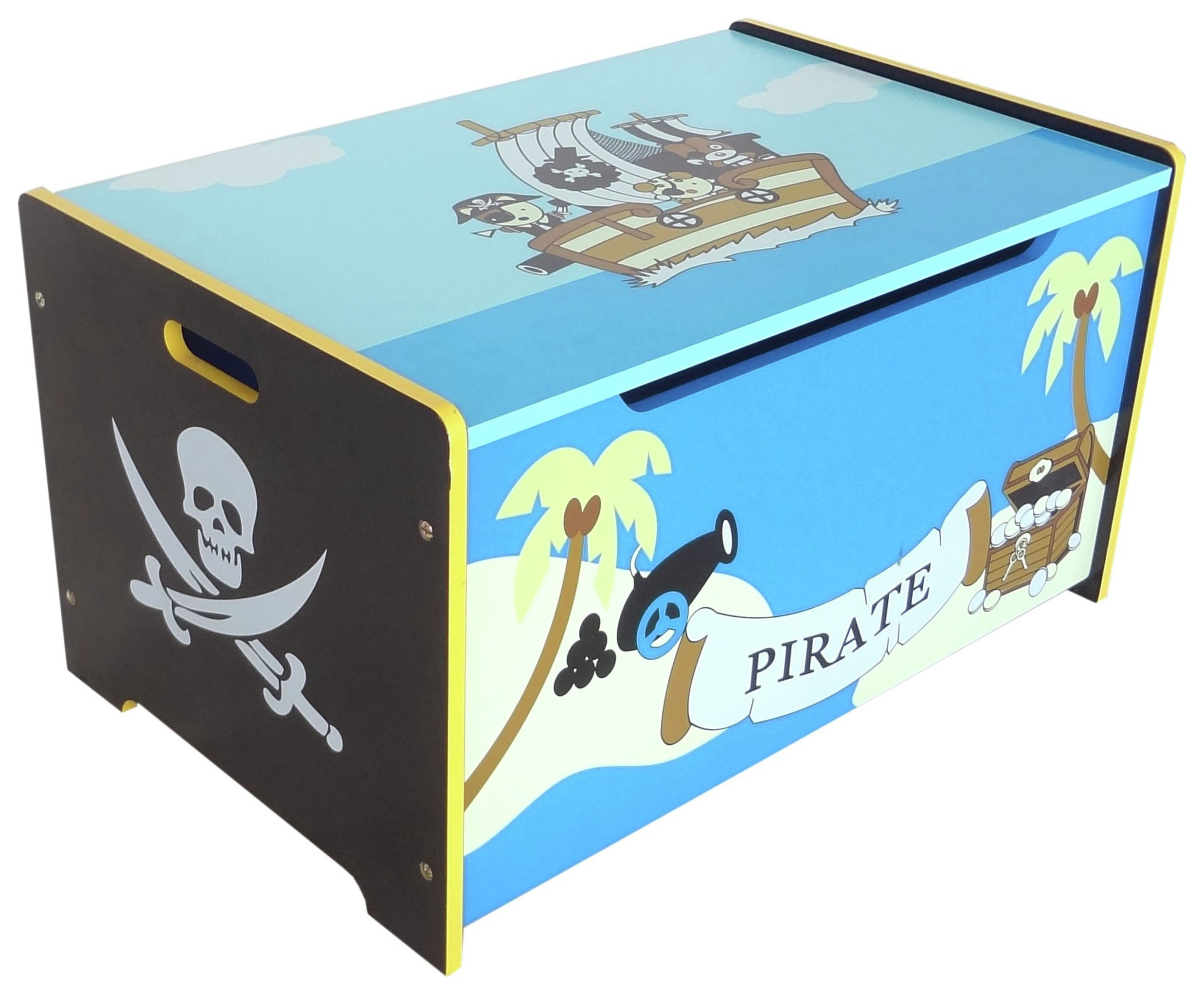 Image of Kiddi Style Pirate Toy Box - Blue