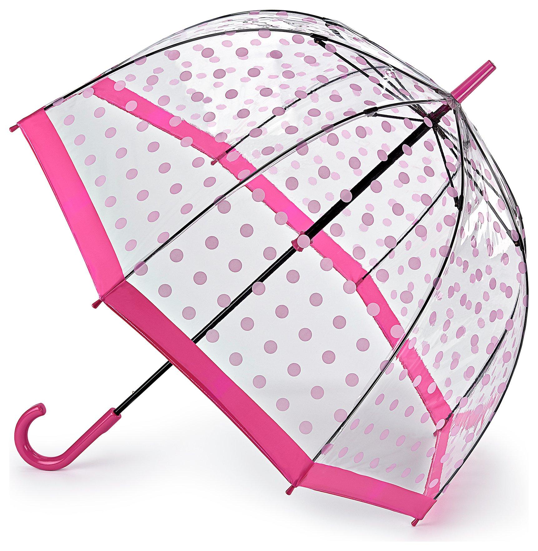 Fulton Birdcage 2 Umbrella - Pink Polka Umbrella