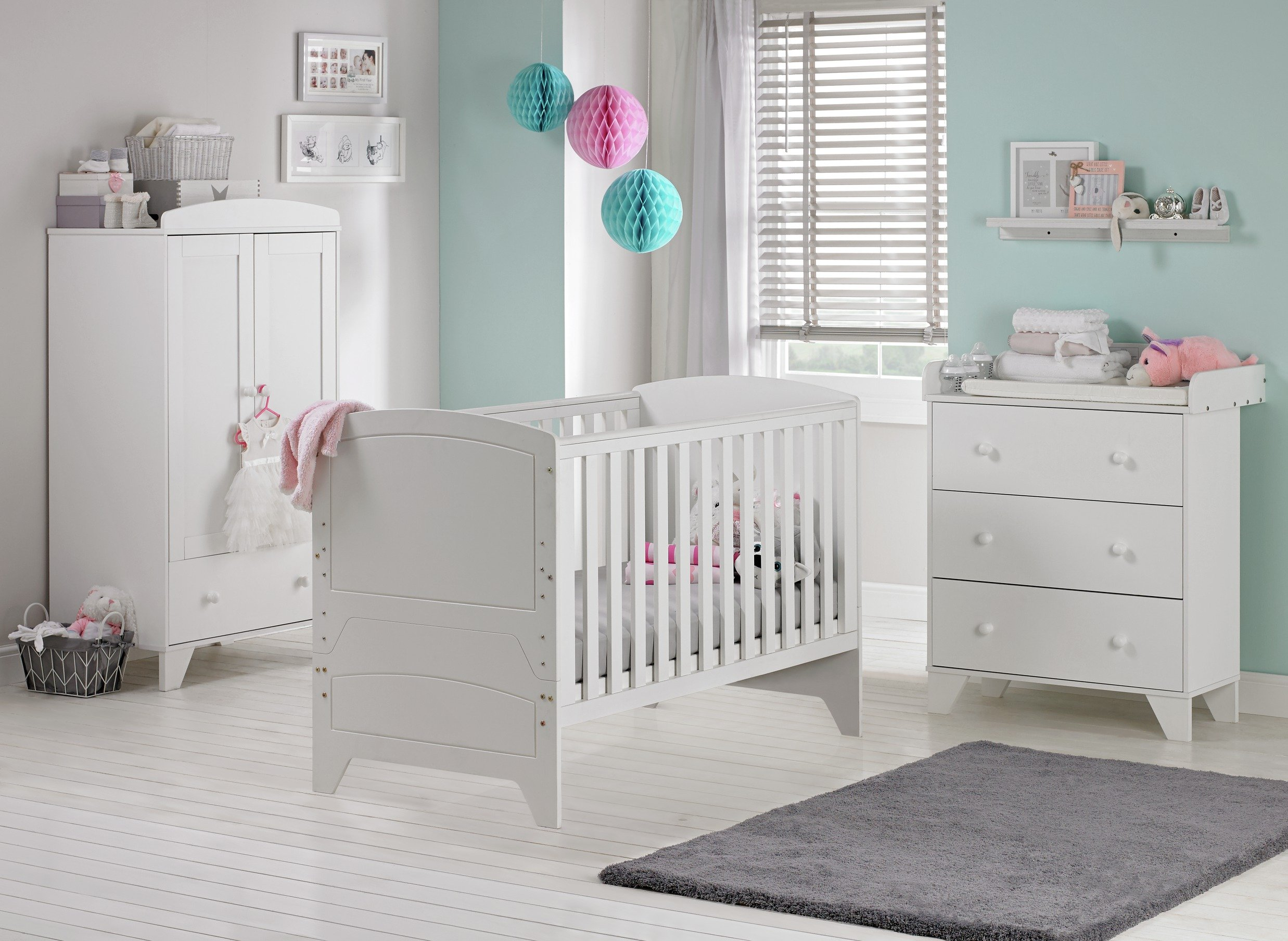 Image of Cuggl Oxford 3 Piece Furniture Set - White