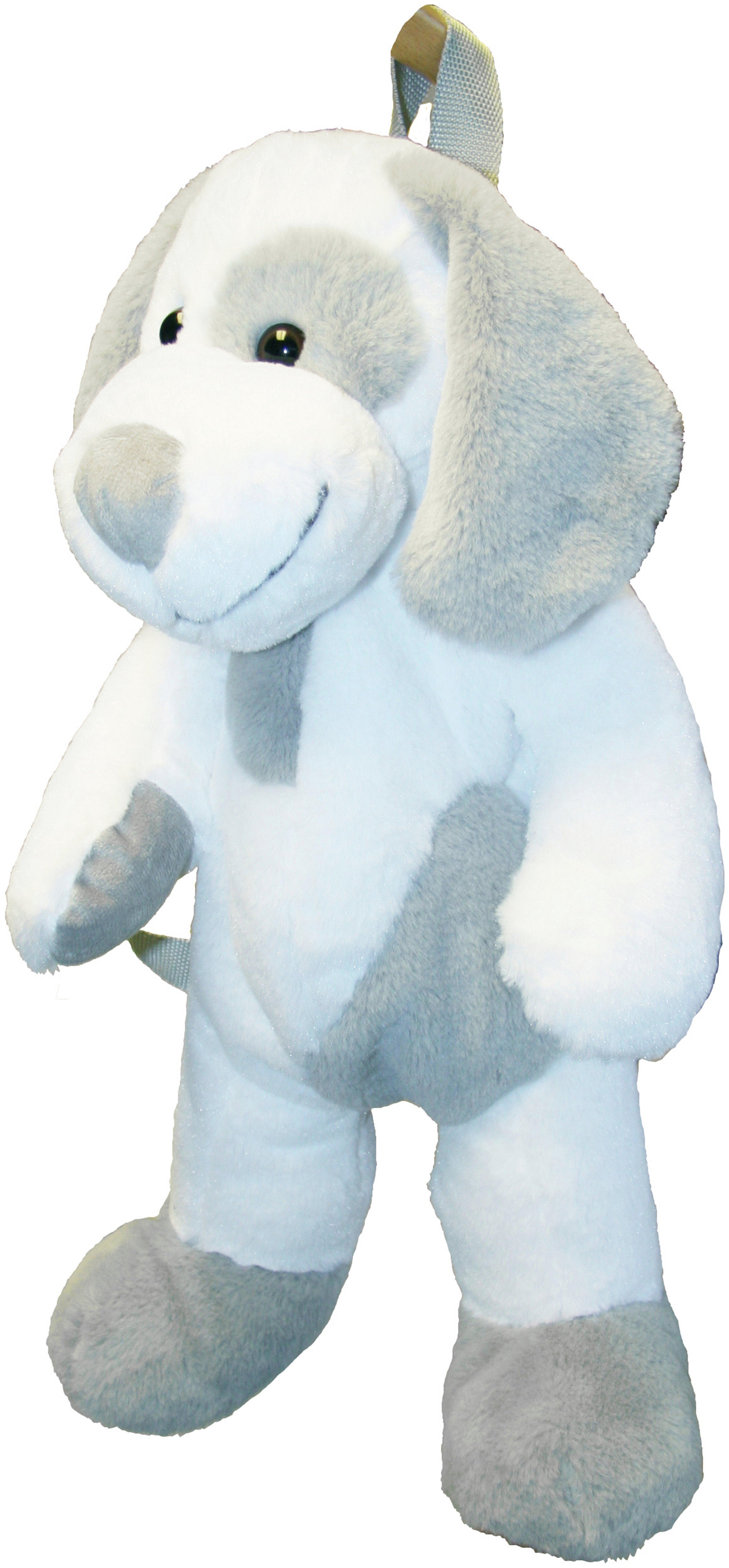 Image of Great Gizmos Dog Backpack - Grey & White.