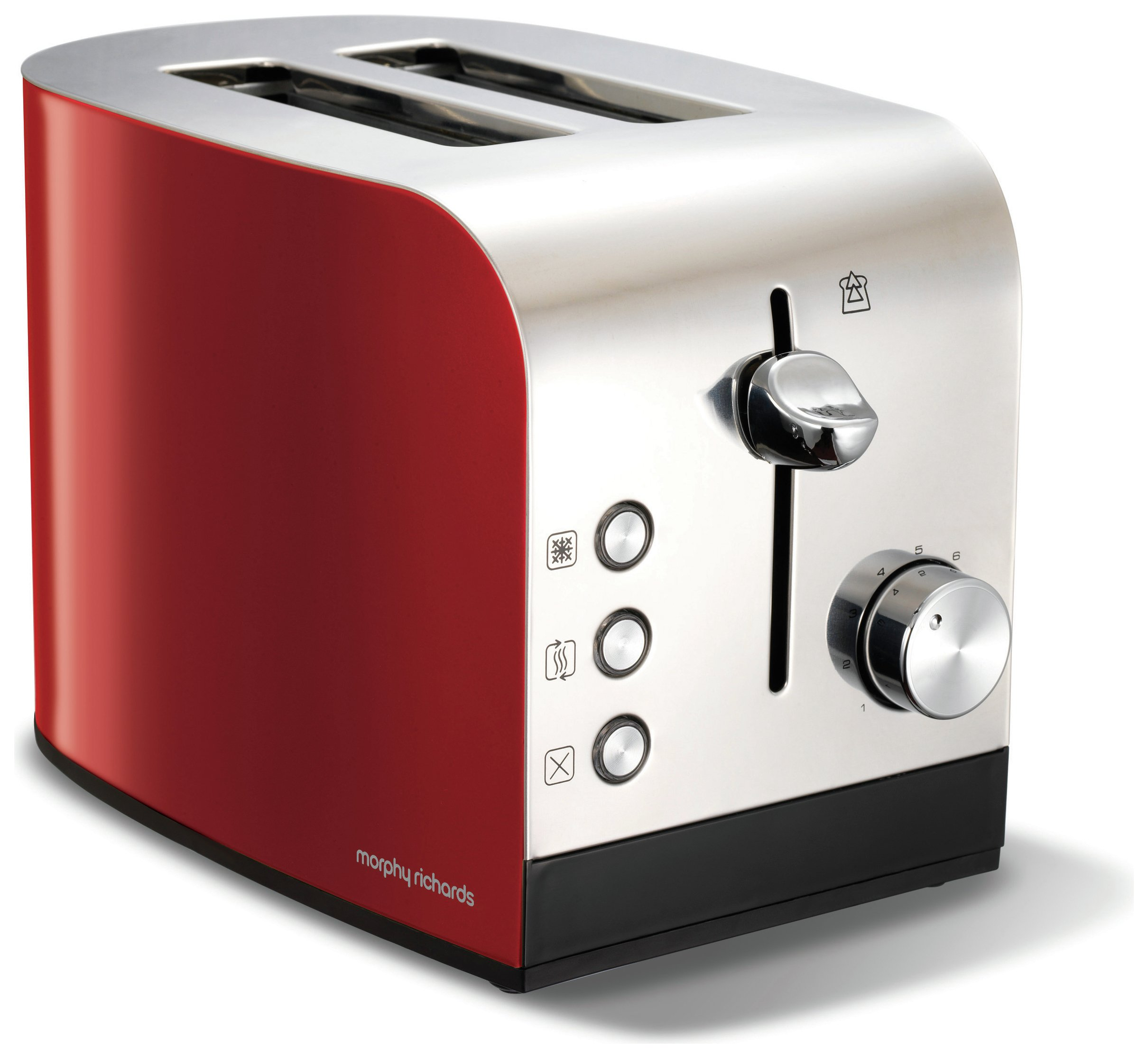 'Morphy Richards Equip 2 Slice Stainless Steel Toaster - Red.