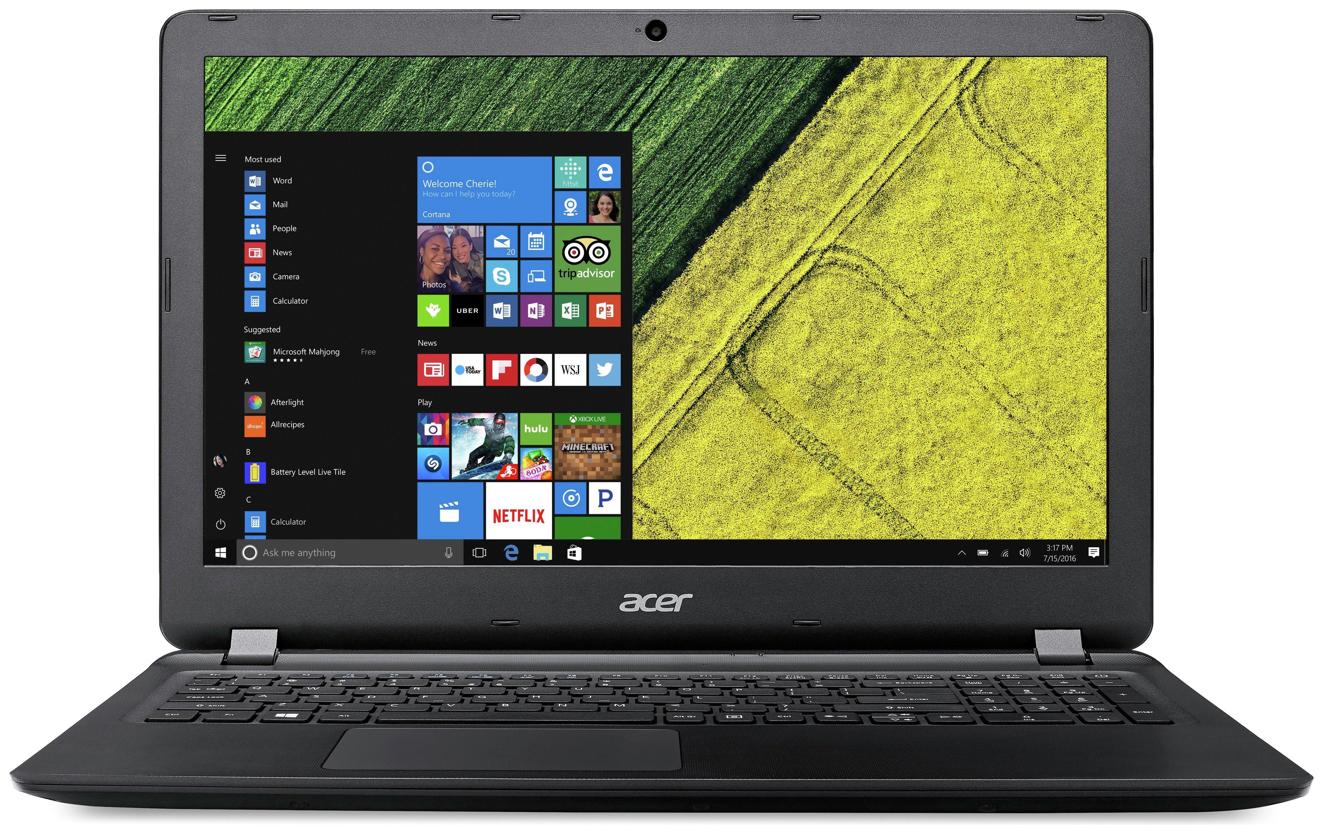 Image of Acer ES 15.6 Inch Pentium 4GB 1TB Laptop - Black