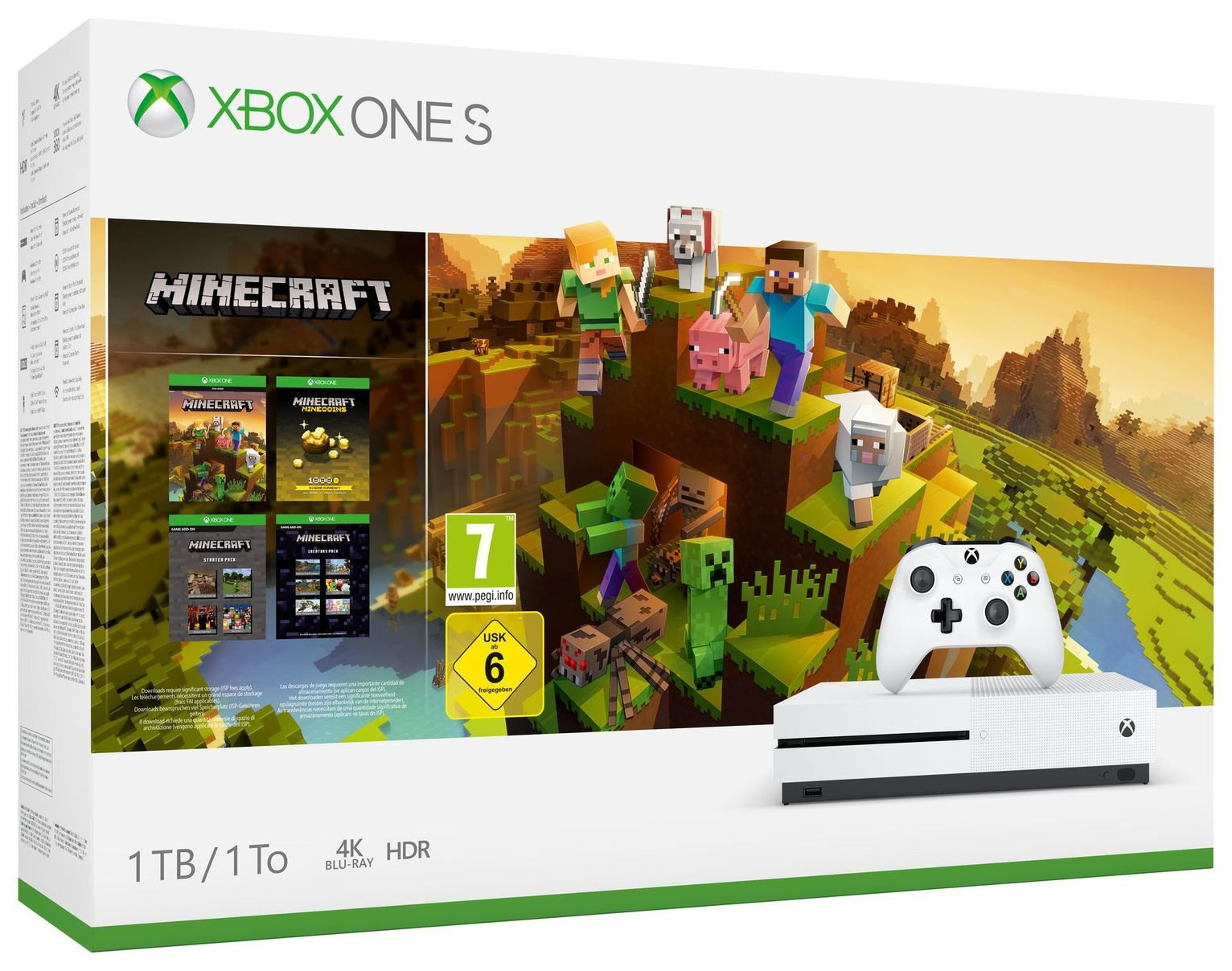 Xbox One S 1TB Console & Minecraft Creators Bundle