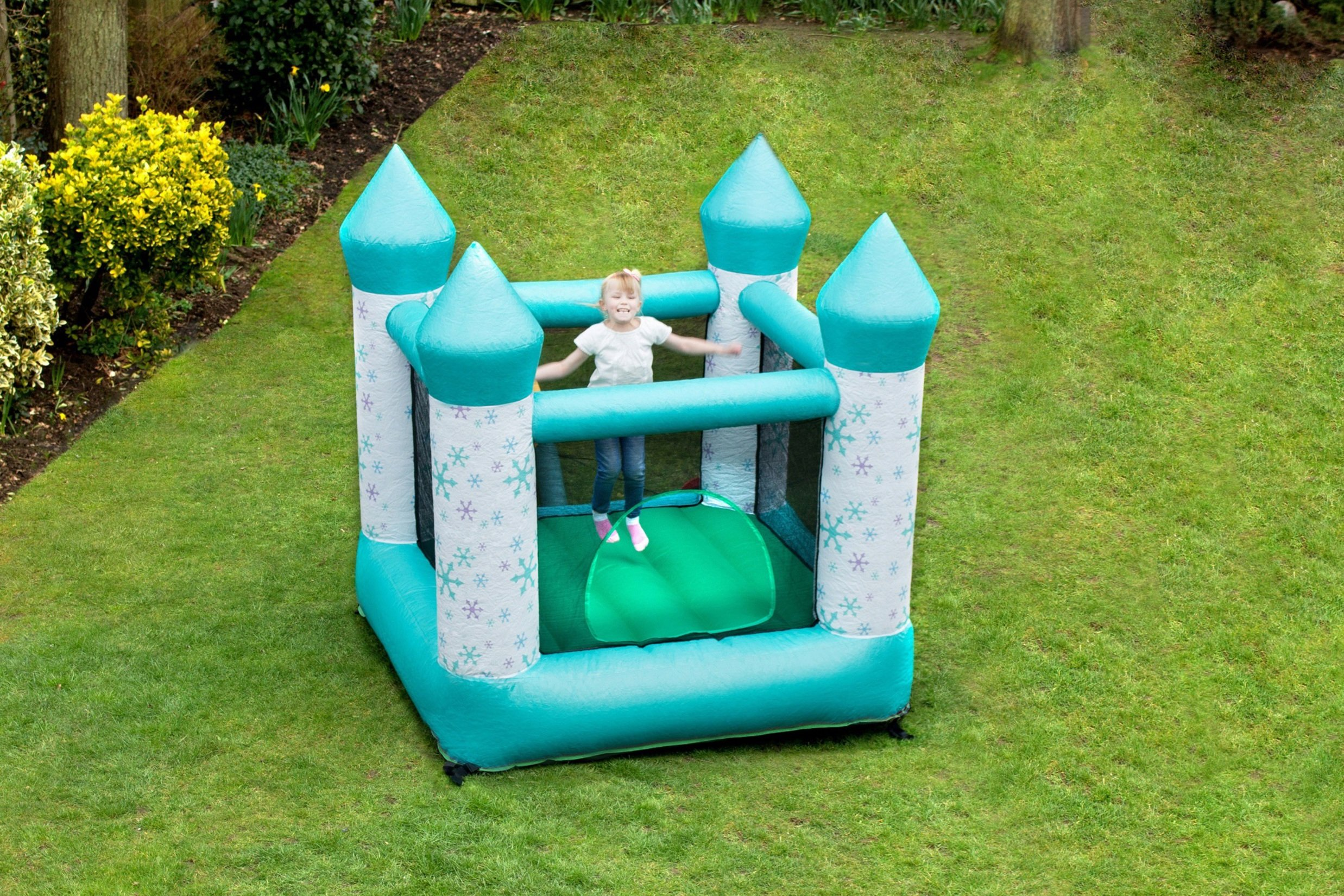 Image of Jumpking 11ft x 11ft Snowflake Bouncehouse