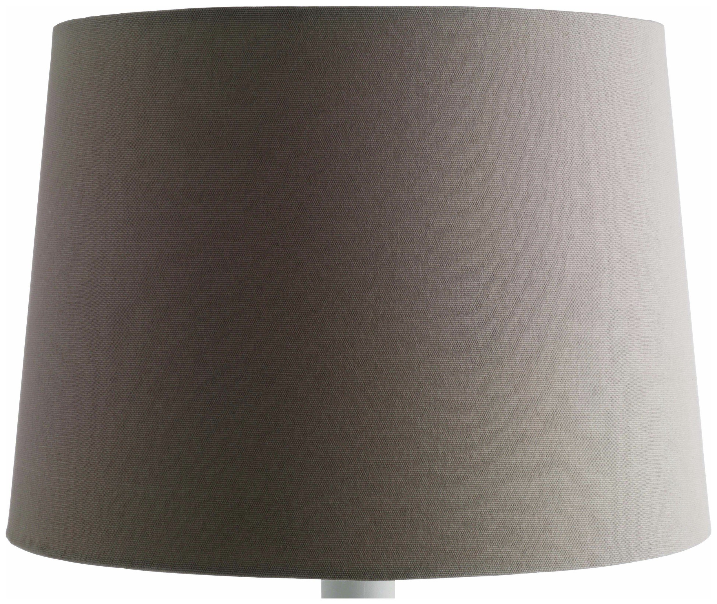 Habitat Lise Grey Fabric Tapered Lampshade