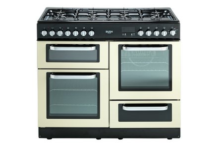 Bush BCL100DFC Dual Fuel Range Cooker - Cream