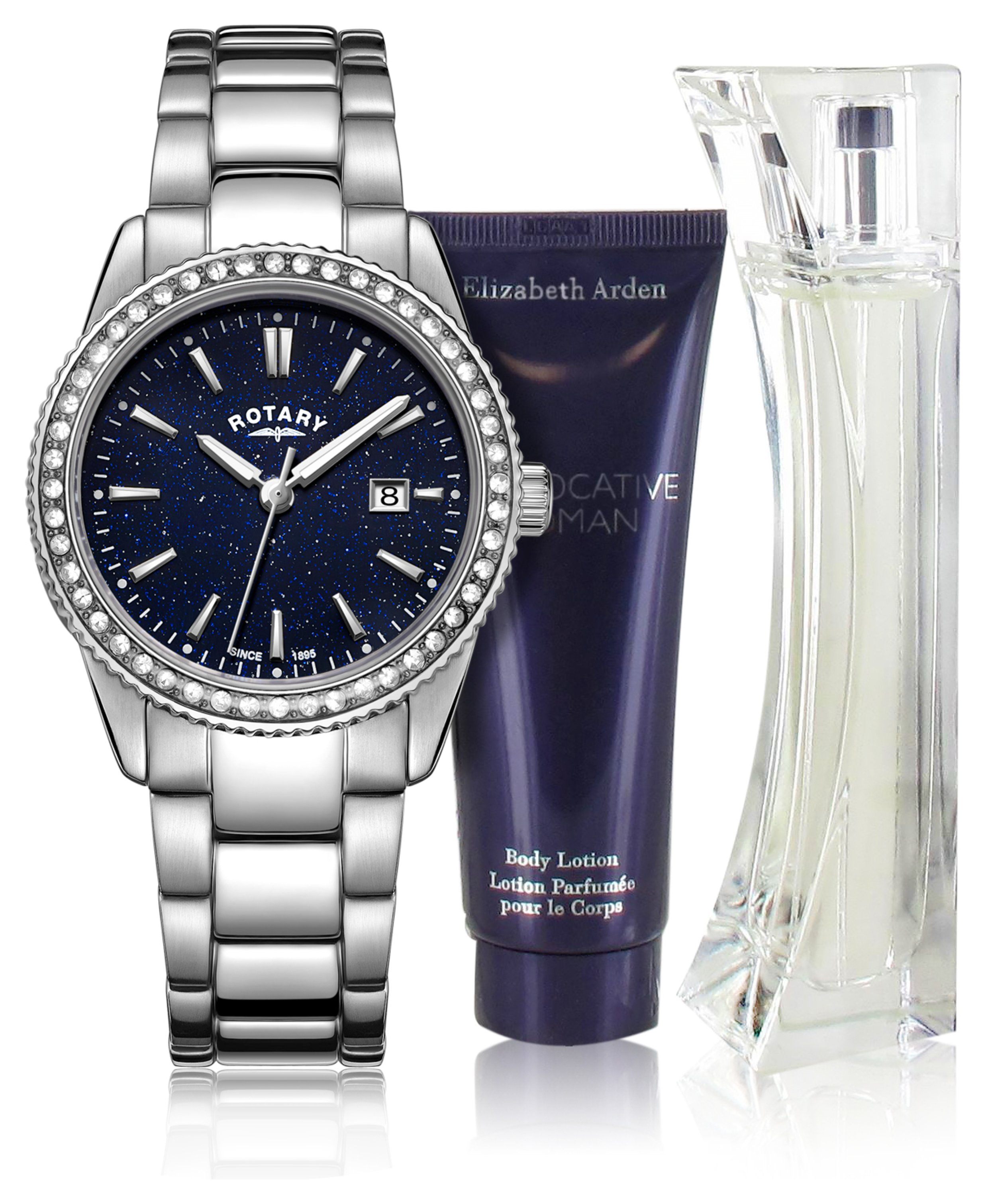 Image of Rotary Ladies' Blue Aventurine Effect Watch and Perfume Set
