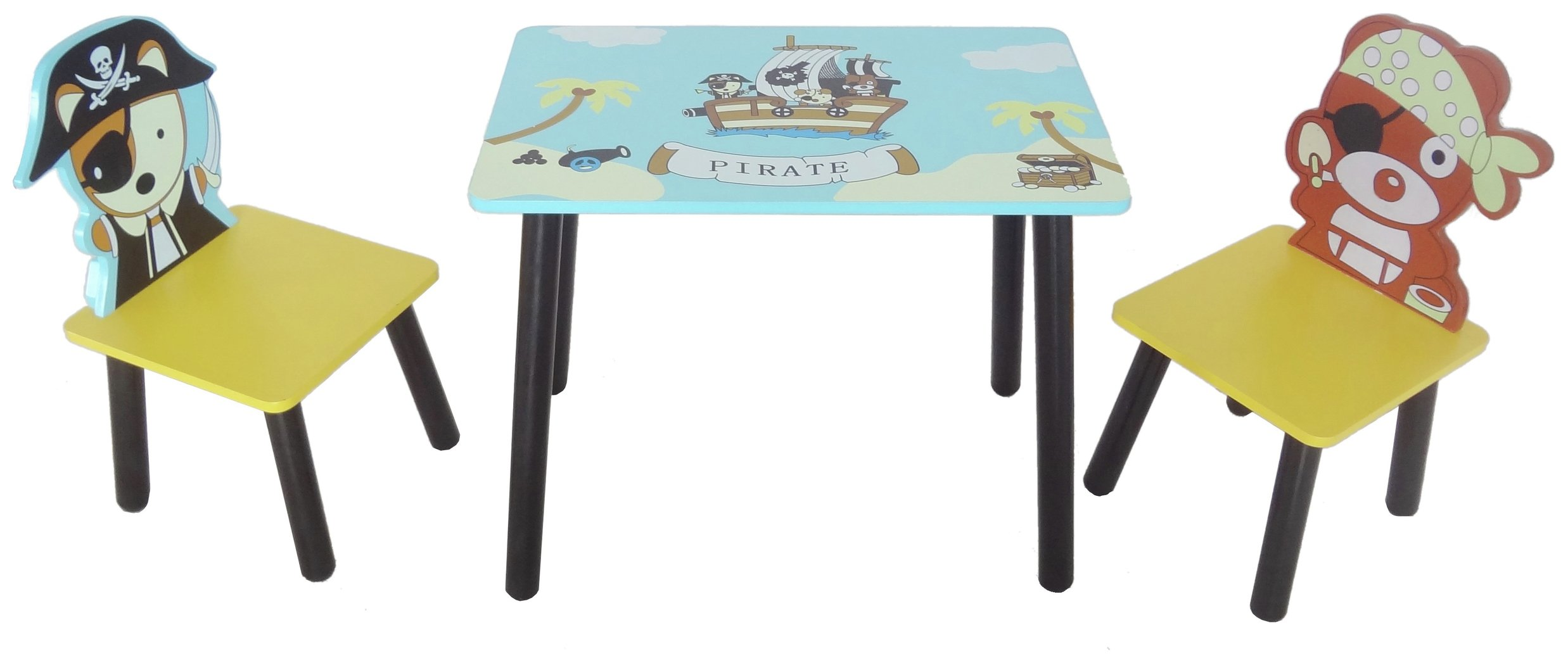Image of Kiddi Style Pirate Table & Chair Set - Blue