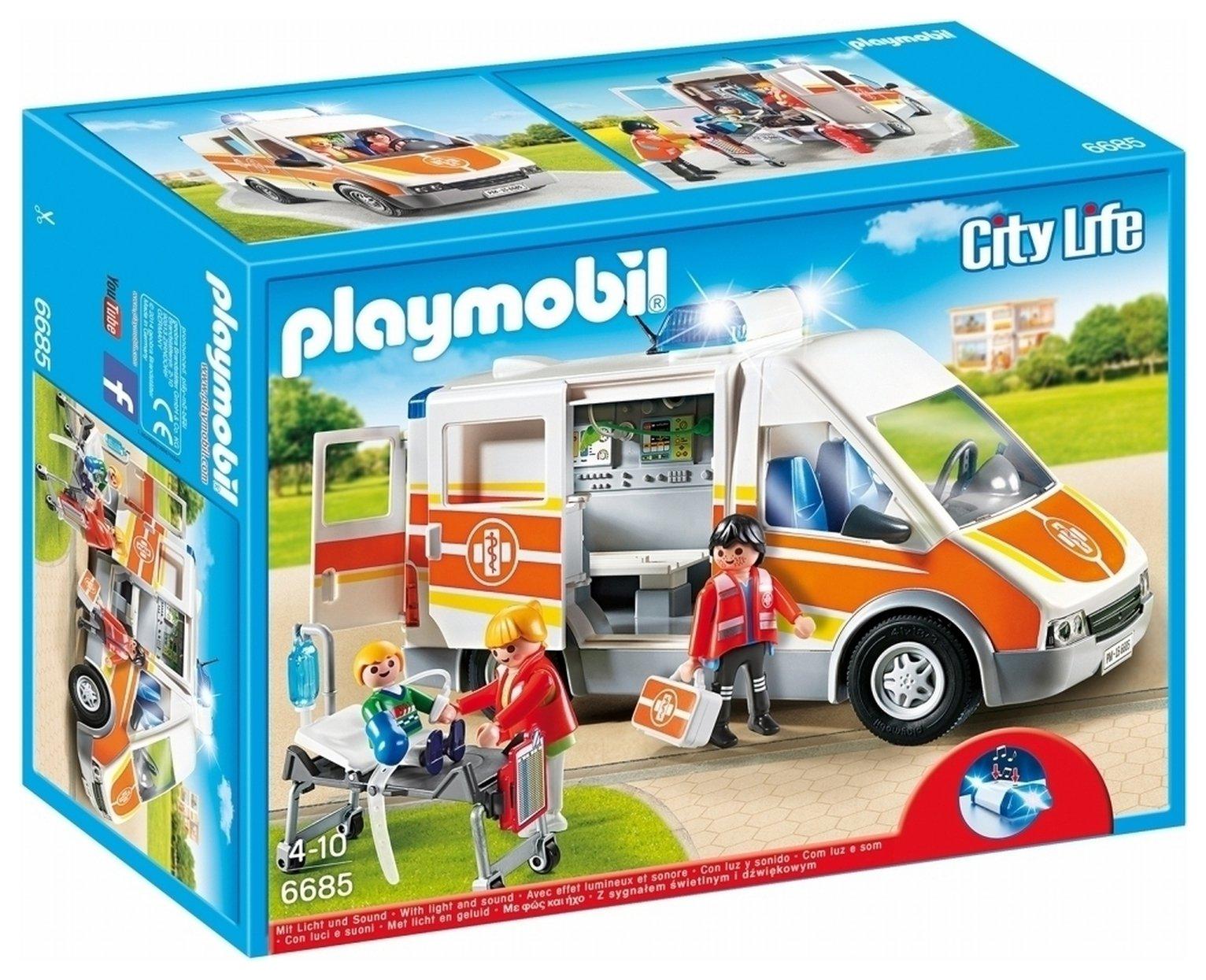 Playmobil 6685 City Life Ambulance With Lights & Sounds.