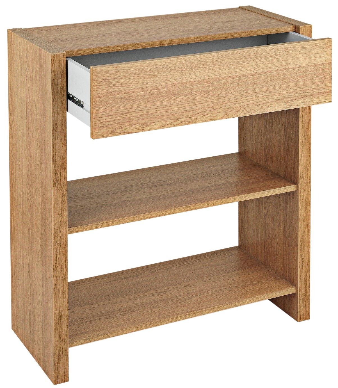 Argos Home Slimline Console Table - Oak Effect