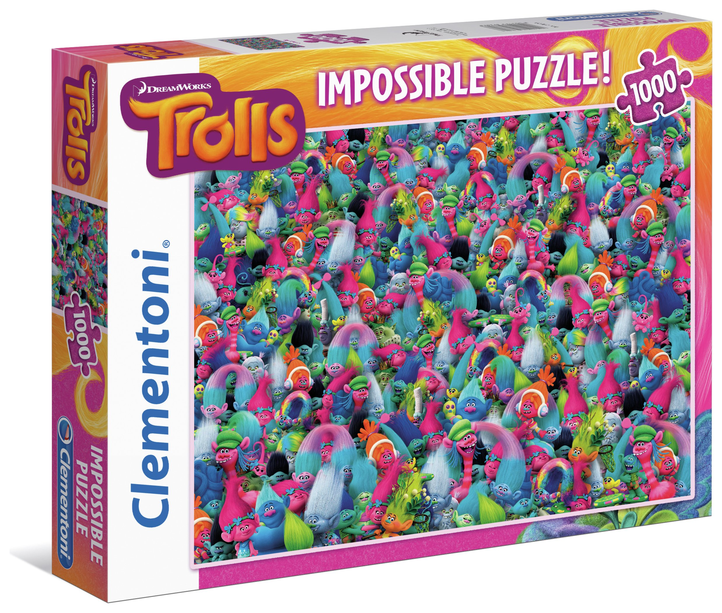 Image of Clementoni Dreamworks Trolls 1000 Impossible Puzzle