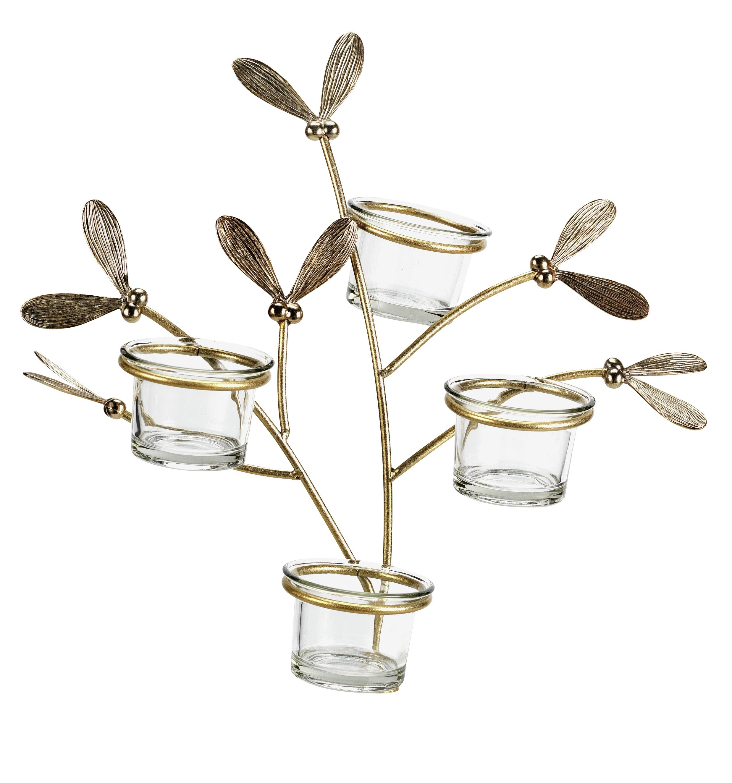 Sainsbury`s Home Small Mistletoe Tea Light Tree - Multi