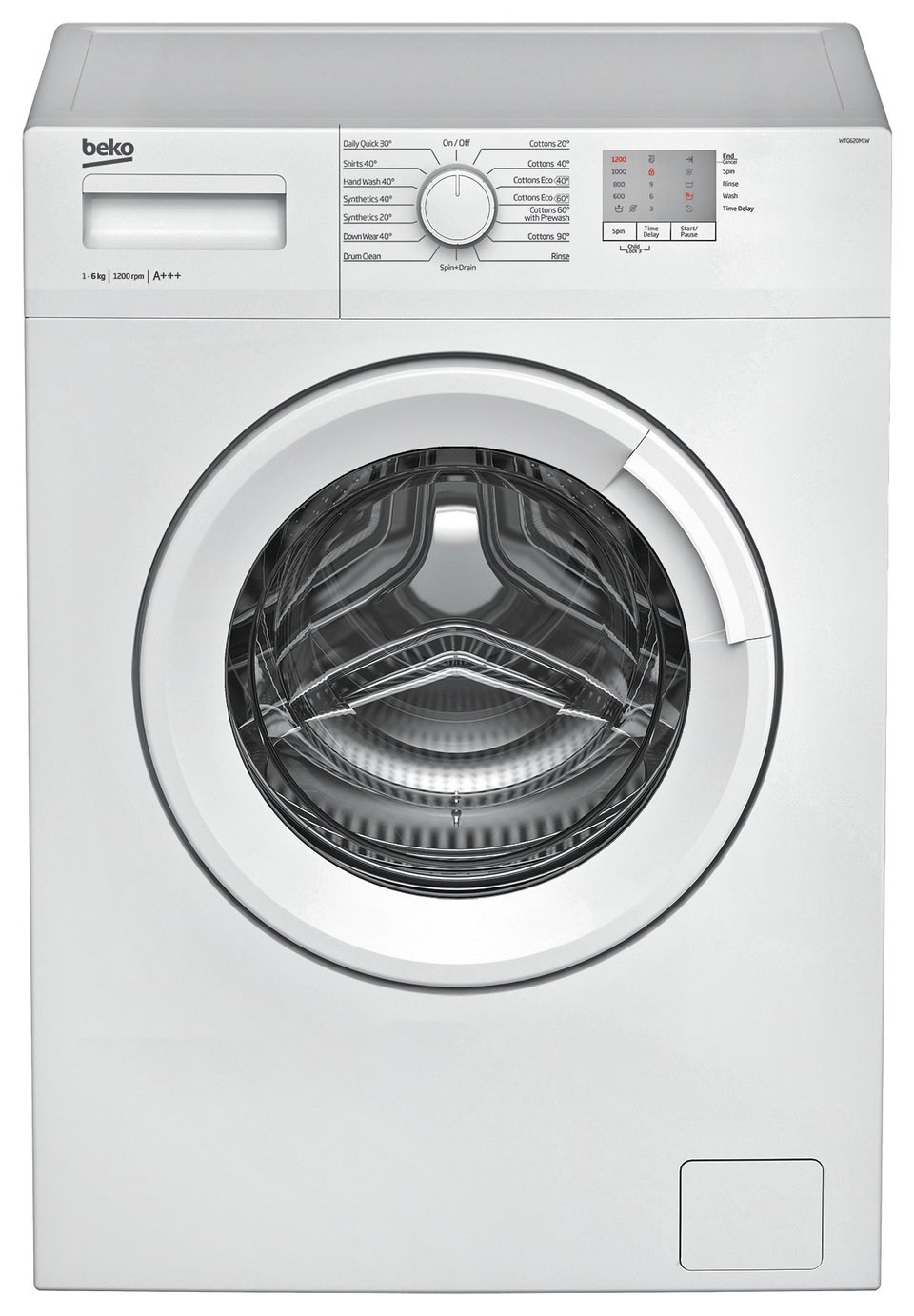 beko 6kg washing machine instructions