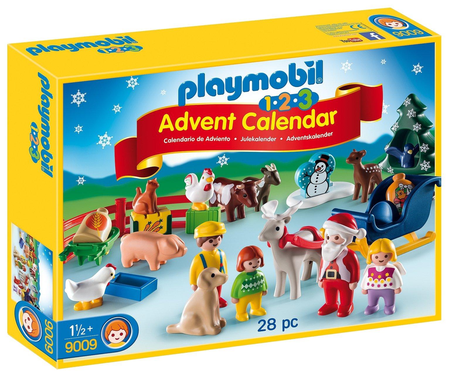 Playmobil 9009 1.2.3 Christmas On The Farm Advent Calendar.