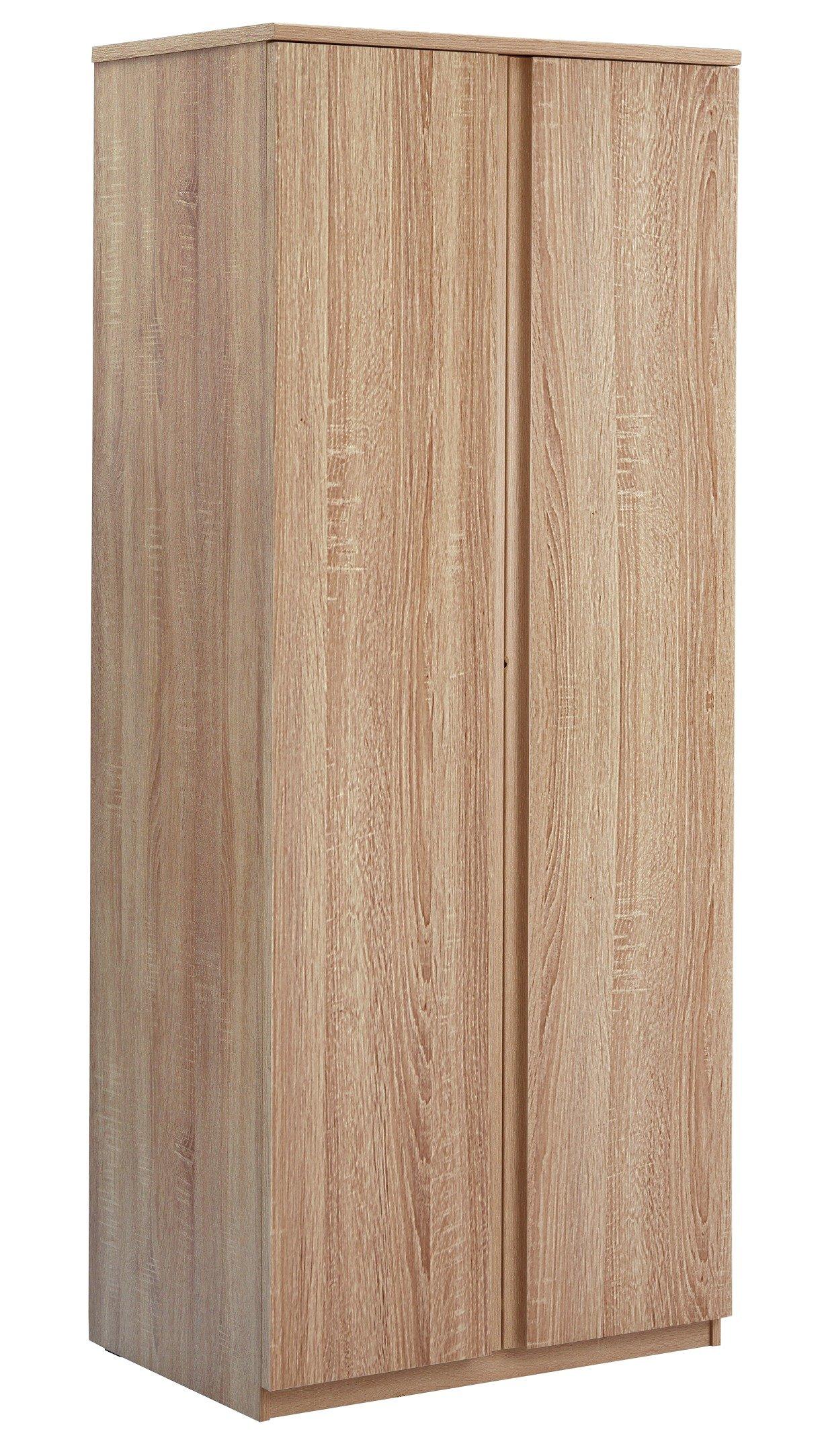 Image of Avenue 2 Door Wardrobe - Brown Oak Effect