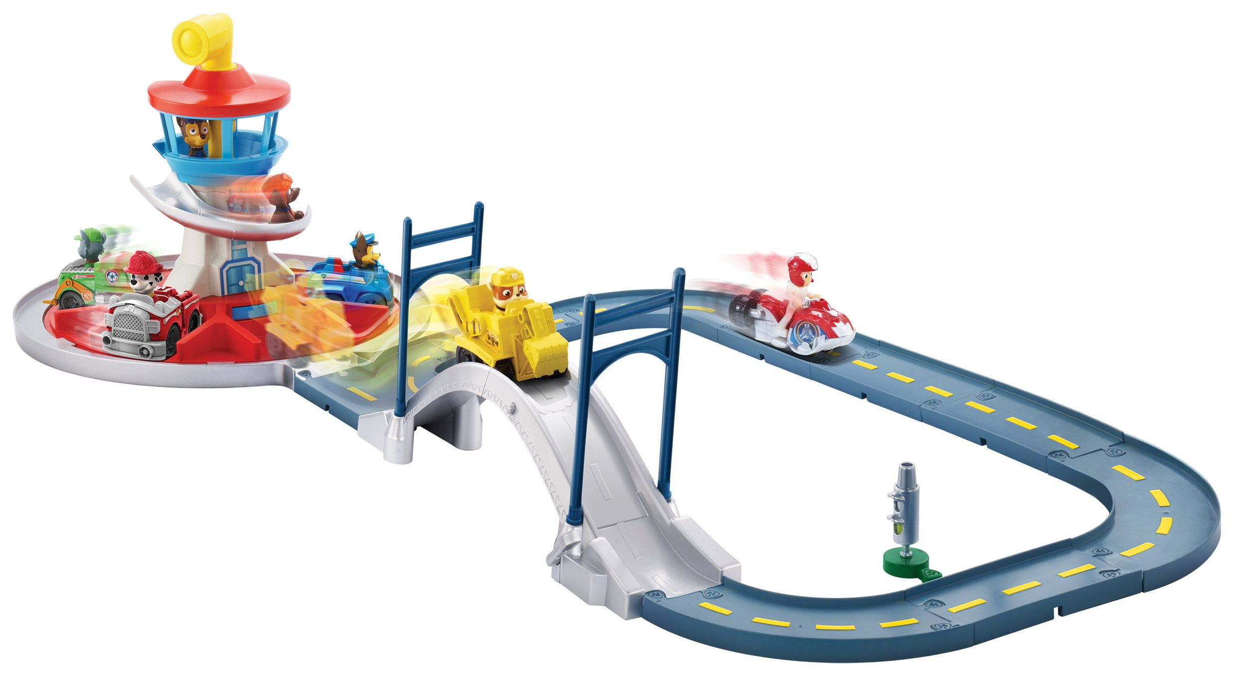 PAW Patrol Launch n' Roll Lookout Tower Track Set.