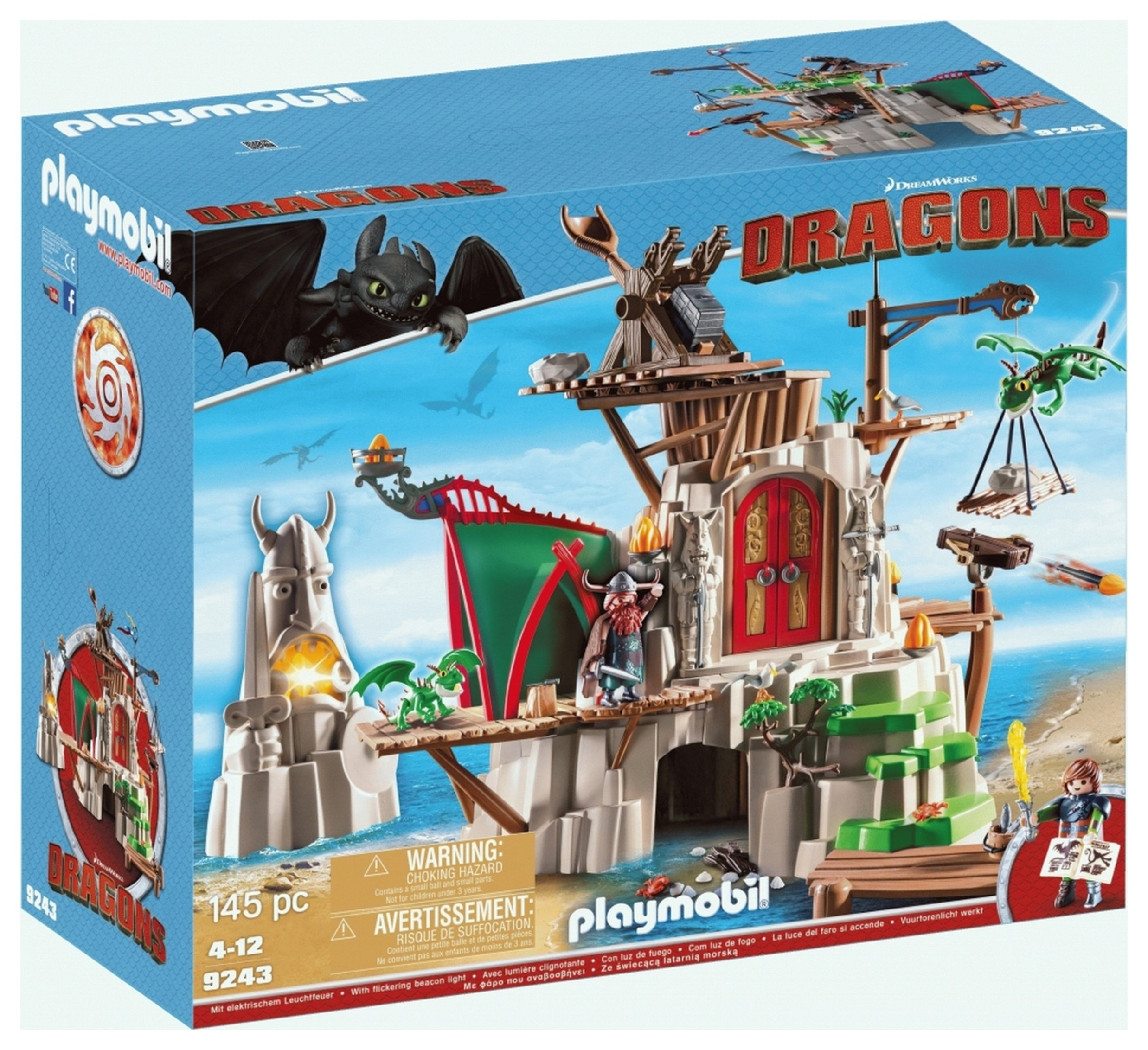 DreamWorks Dragons 9243 Berk Island Fortress By Playmobil