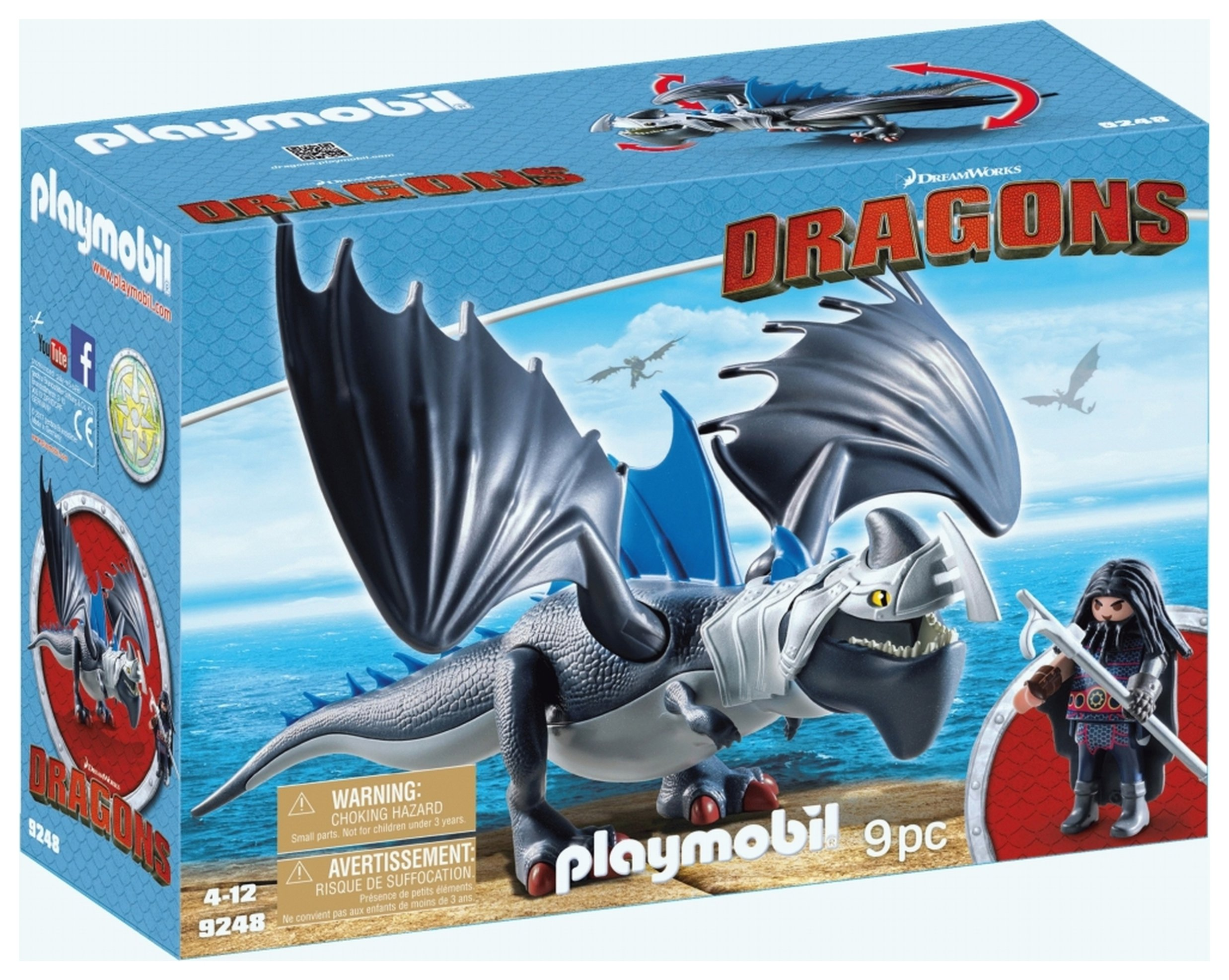 DreamWorks Dragons� 9248 Drago & Thunderclaw By Playmobil