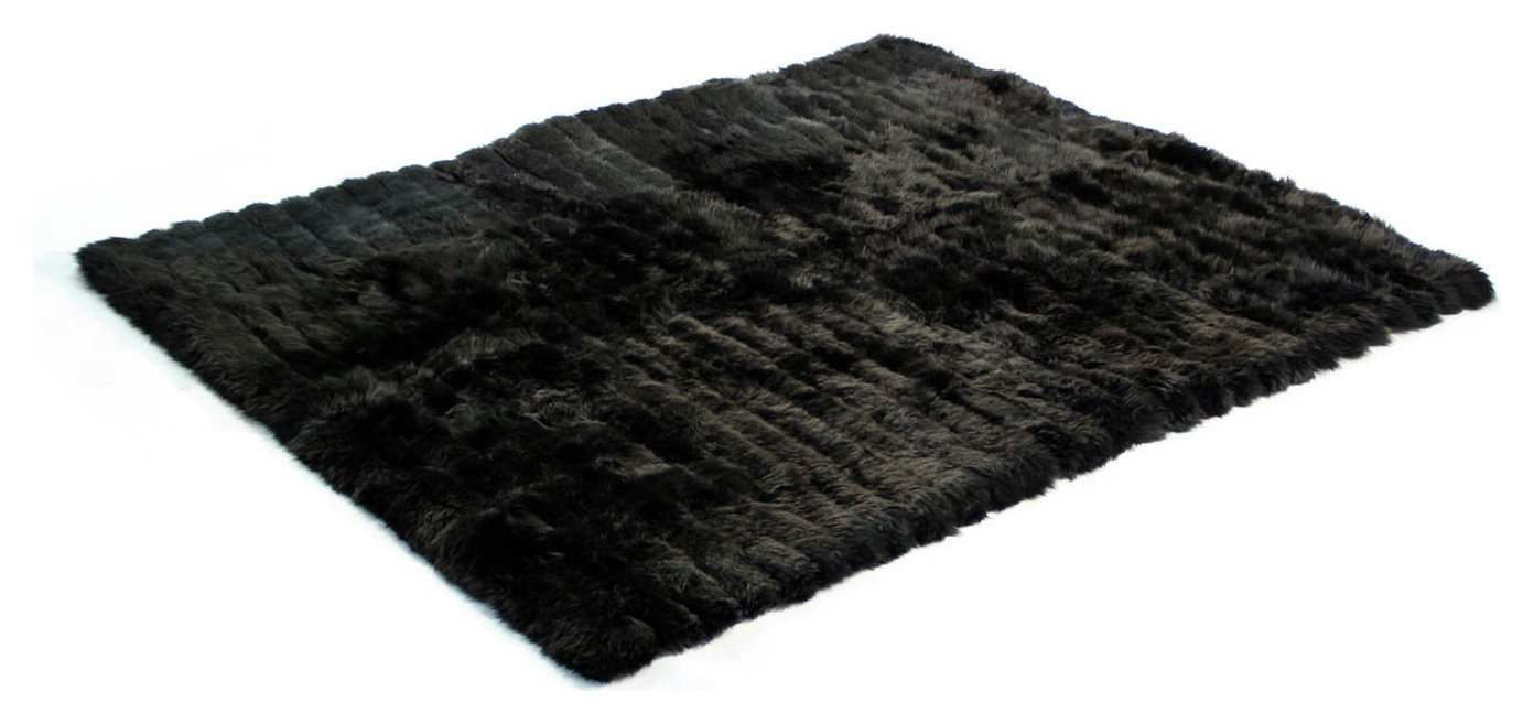 Image of Bowron Sheepskin Minx Throw - Black