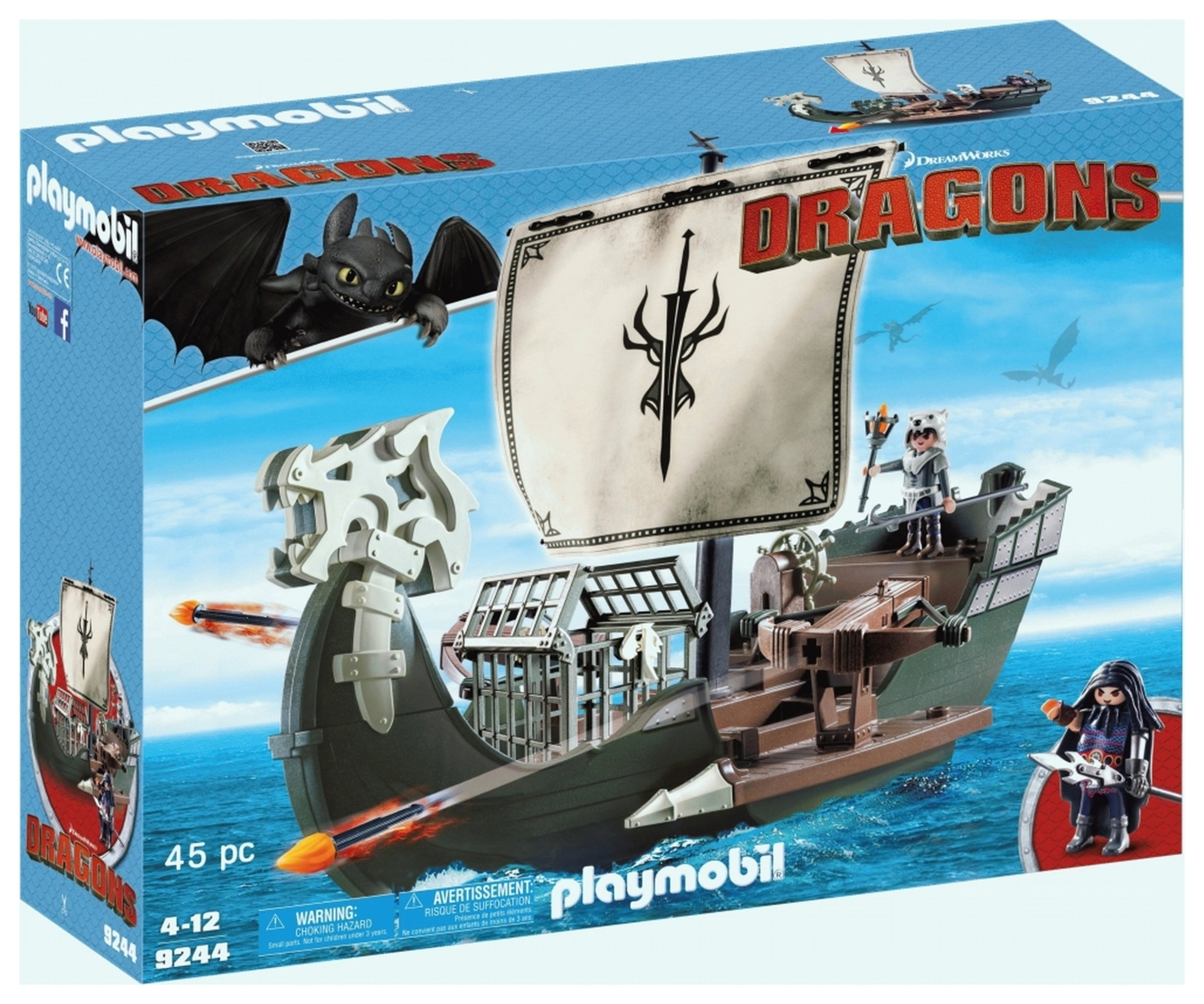 DreamWorks Dragons 9244 Floating Drago's Ship By Playmobil