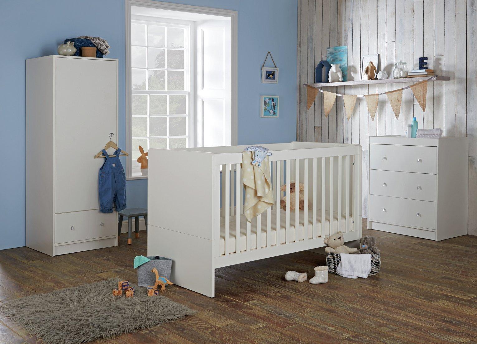 Cuggl Malibu 3 Piece Furniture Set   White