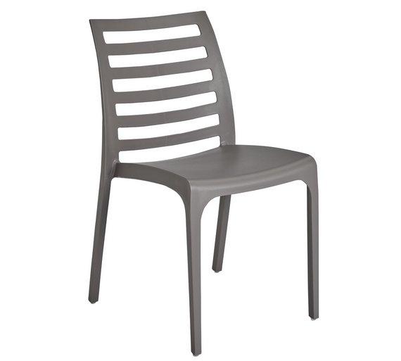 buy hygena stakk plastic chair grey dining chairs argos