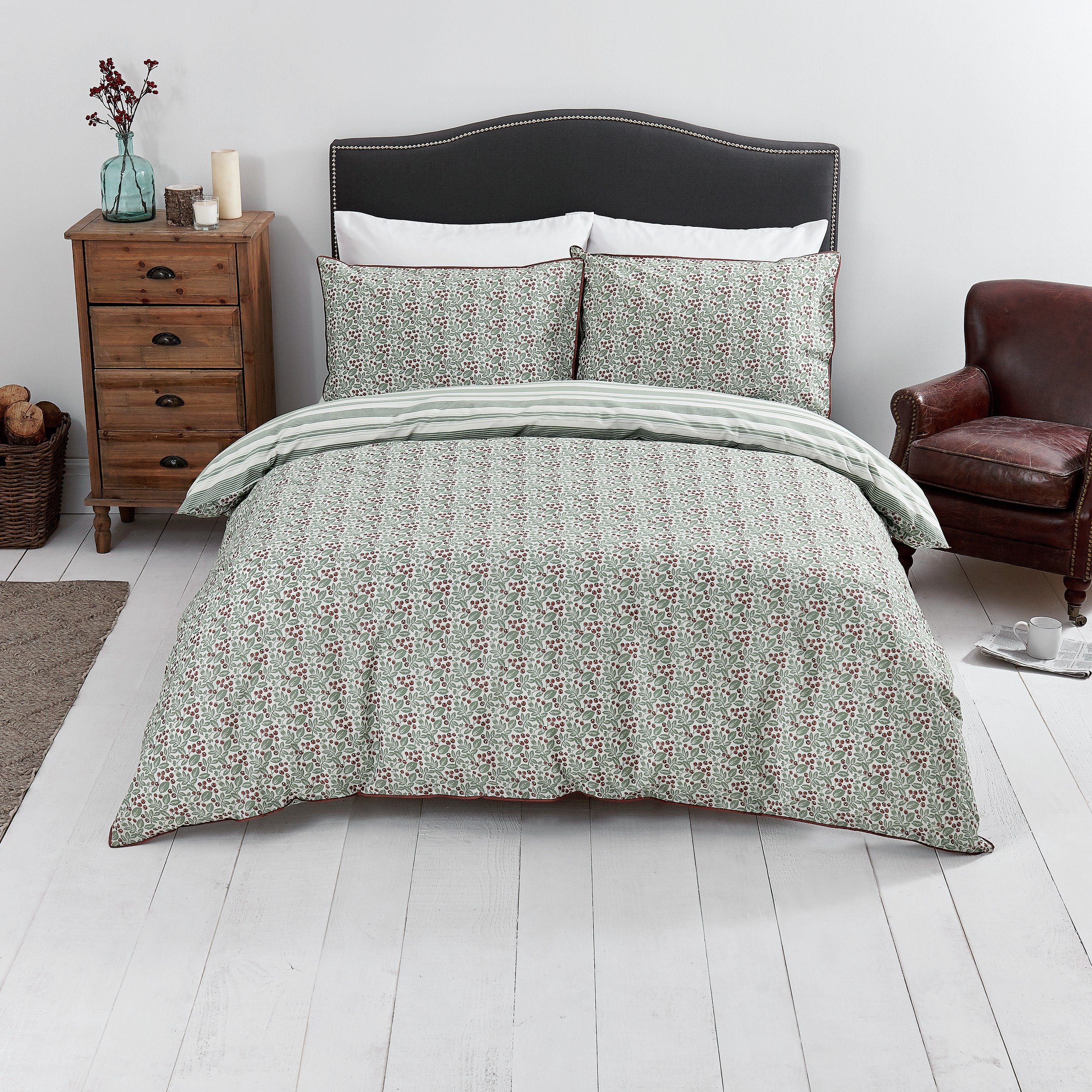 SALE On Sainsbury's Home Berries Print Duvet Cover Set