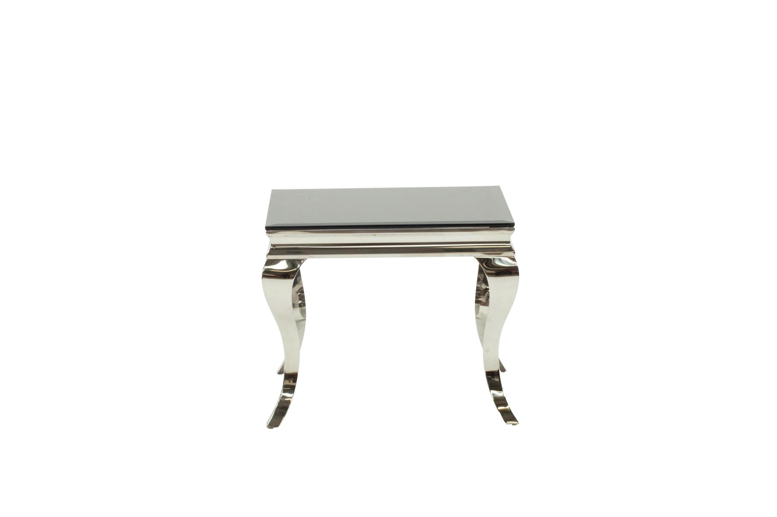 Furnoko Louis Glass End Table - Black