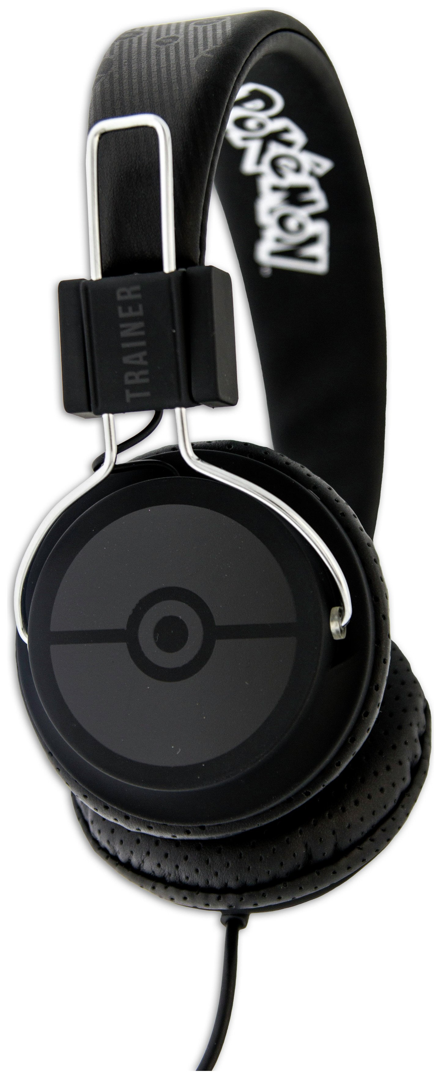 Pokemon Kids On-Ear Headphones - Black