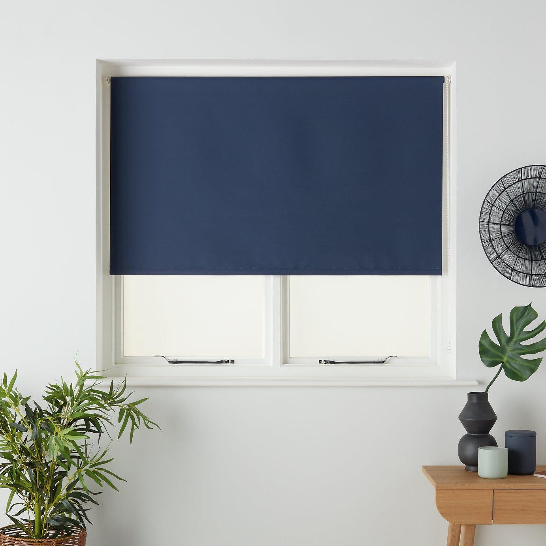 5ft Argos Home Blackout Roller Blind Cloud Grey