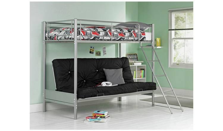 Buy Argos Home Metal Bunk Bed Frame With Black Futon Kids Beds Argos