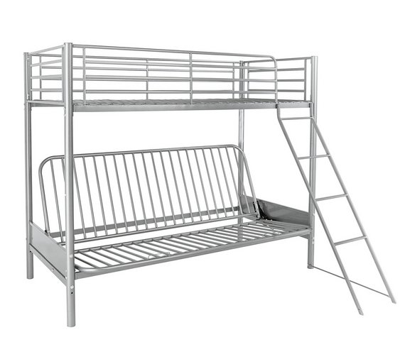Buy Argos Home Metal Bunk Bed Frame With Futon Blue Kids Beds