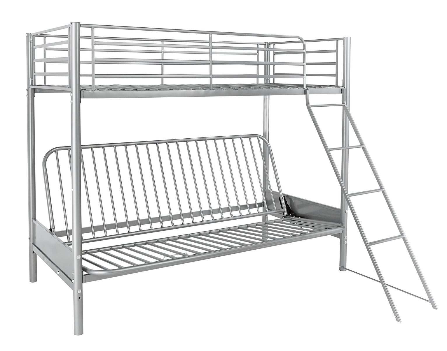 Buy Argos Home Metal Bunk Bed Frame With Blue Futon Kids Beds Argos