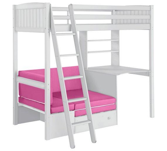 Buy Home Classic High Sleeper Bed Amp Sofa Bed Fuchsia