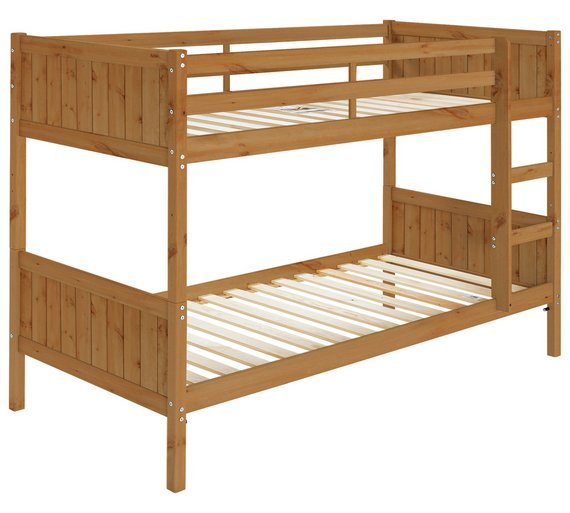 Buy home detachable single bunk bed frame pine at argos for Single loft bed frame