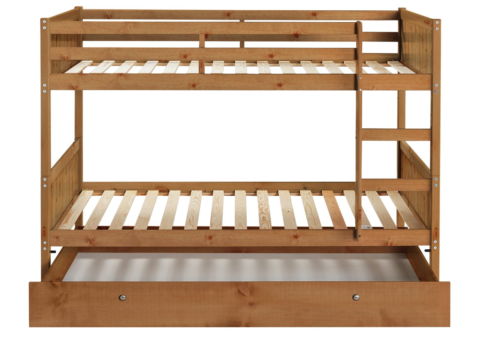 Detachable single bunk bed frame with storage pine for Single loft bed frame