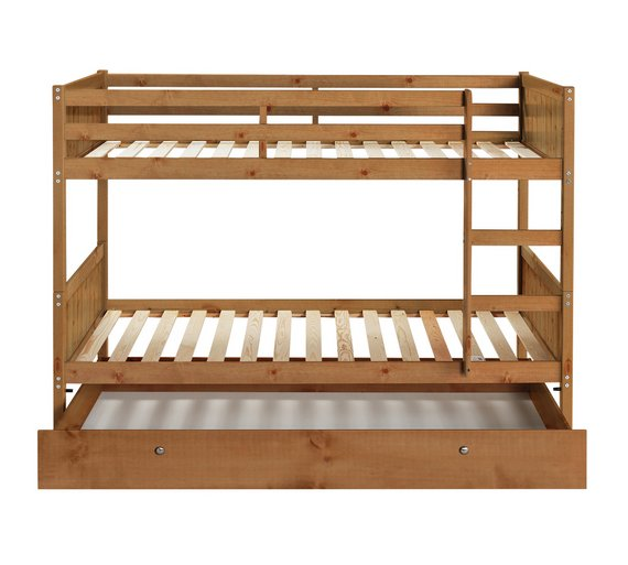 Shop Beds Online: Buy HOME Detachable Single Bunk Bed Frame With Storage