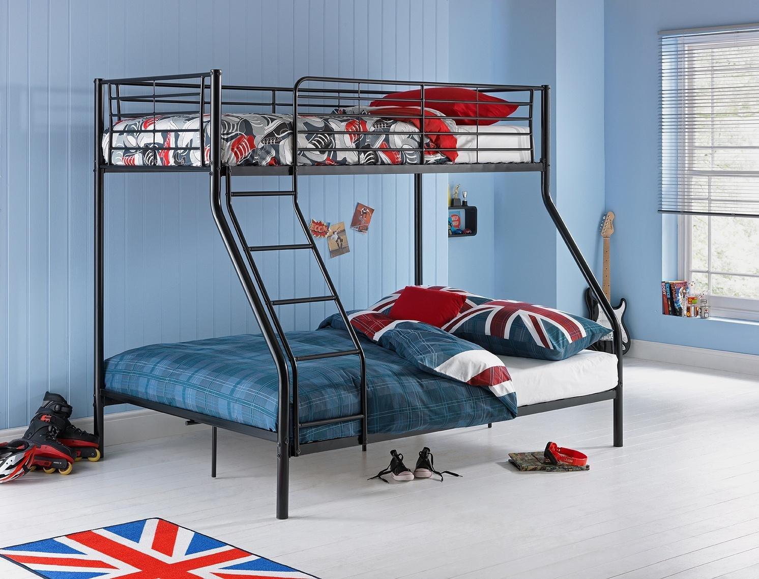 Buy HOME Lucas Metal Triple Bunk Bed Frame Black at Argoscouk