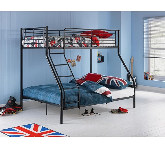 metal triple bunk bed frame assembly instructions