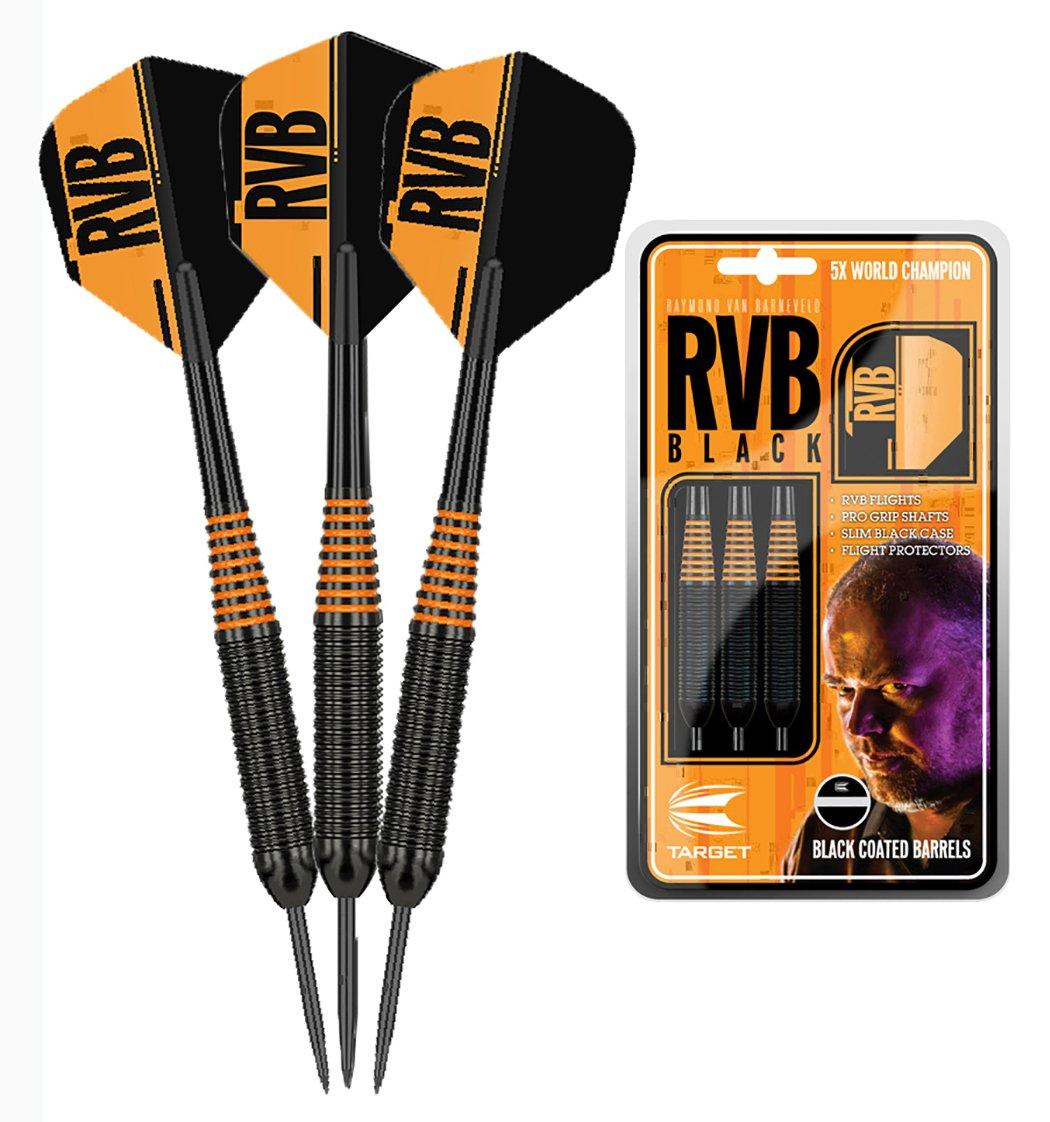 Target Raymond Van Barnevold Black & Orange Brass Darts -22g