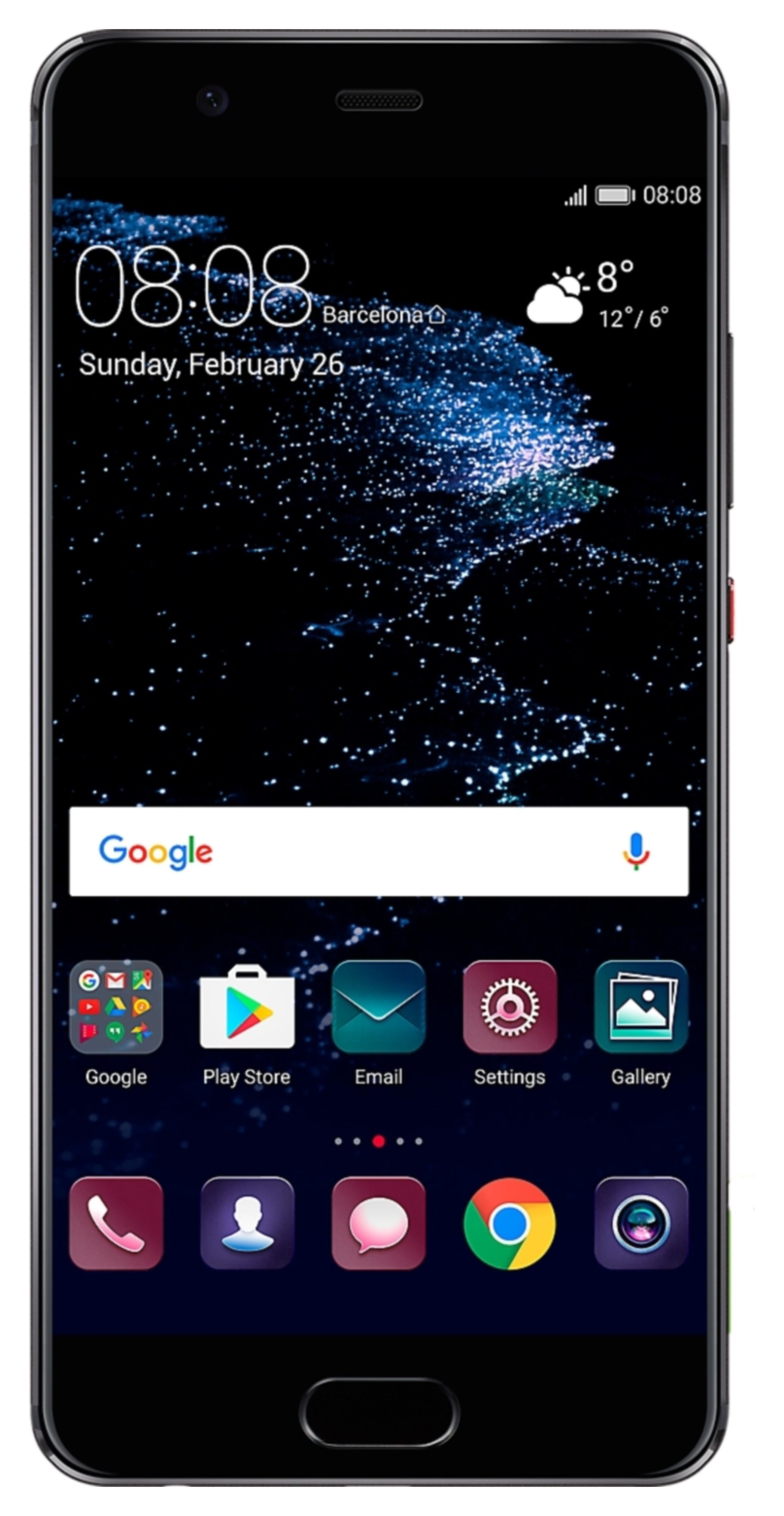 Image of Sim Free Huawei P10 Mobile Phone - Black.