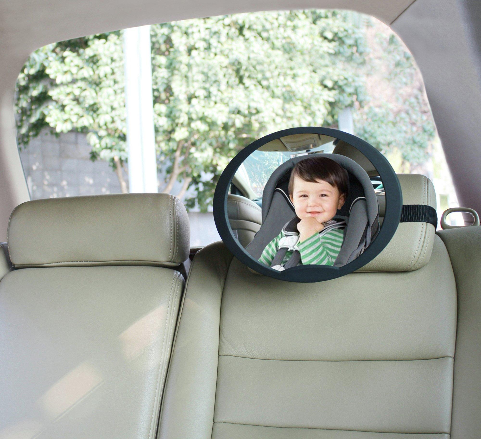 BabyDan Adjustable Rear Seat Large Wide Angled Mirror