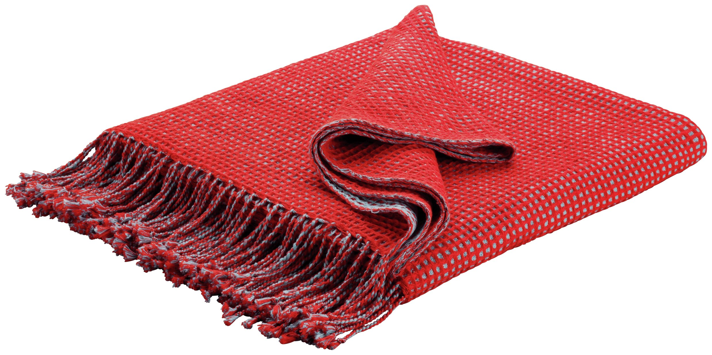 Habitat Abban 150x170cm Throw - Tomato