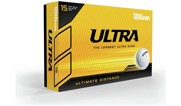 Wilson Ultra Distance Golf Balls - Pack of 15