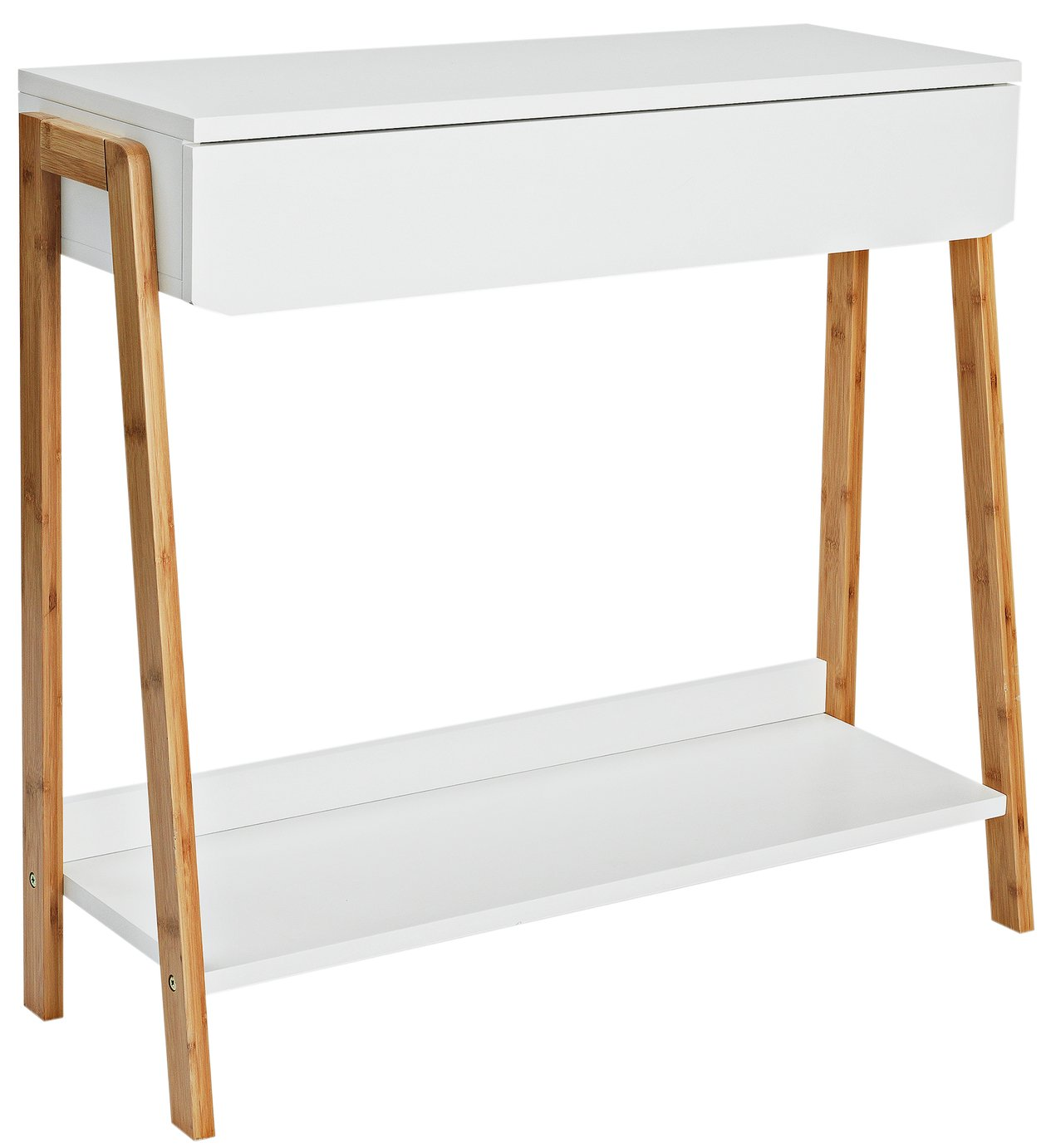 Argos Home Belvoir Console Table - Bamboo and White