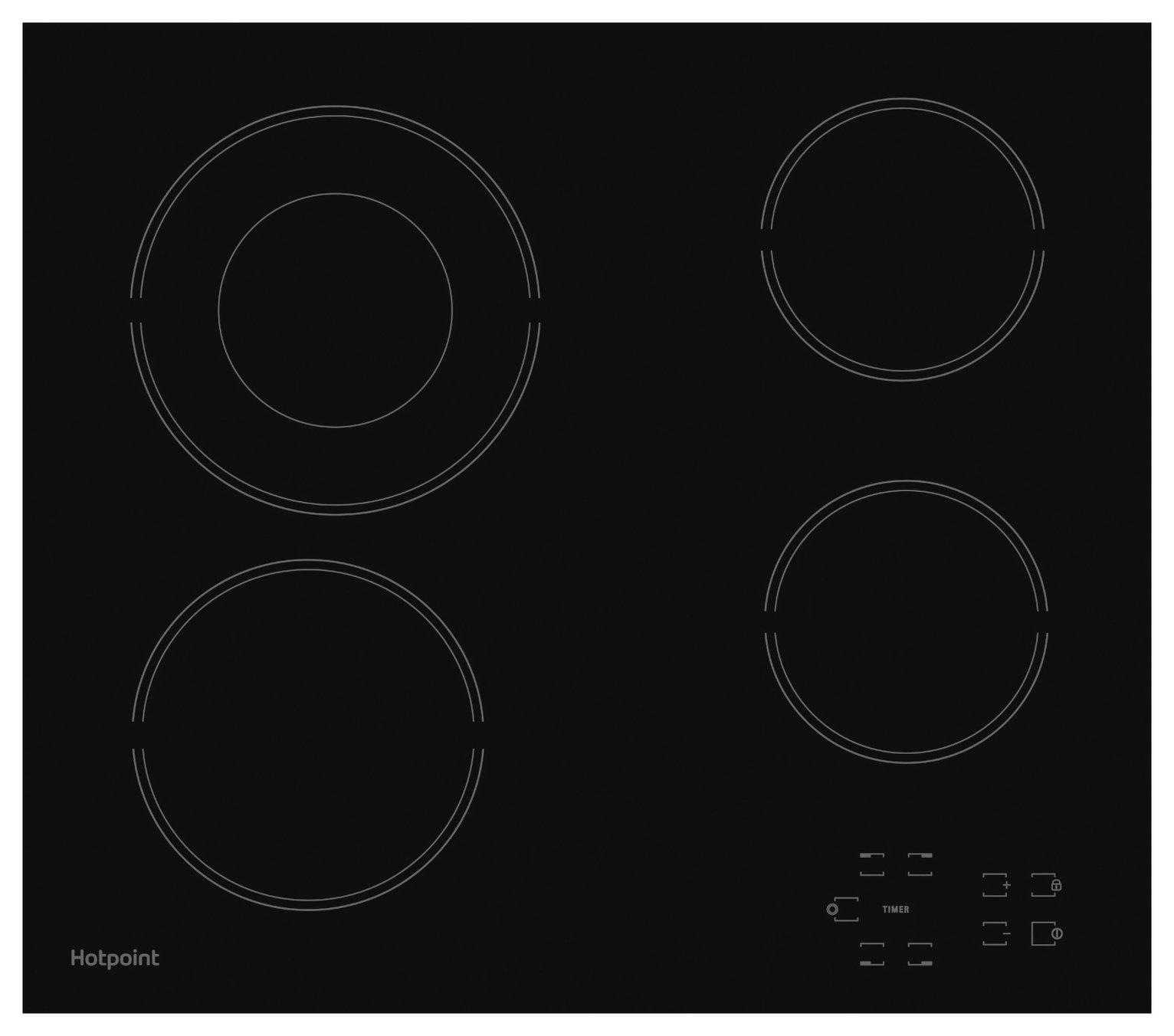 Hotpoint HR612CH Ceramic Hob - Black - Del/Ins/Rec