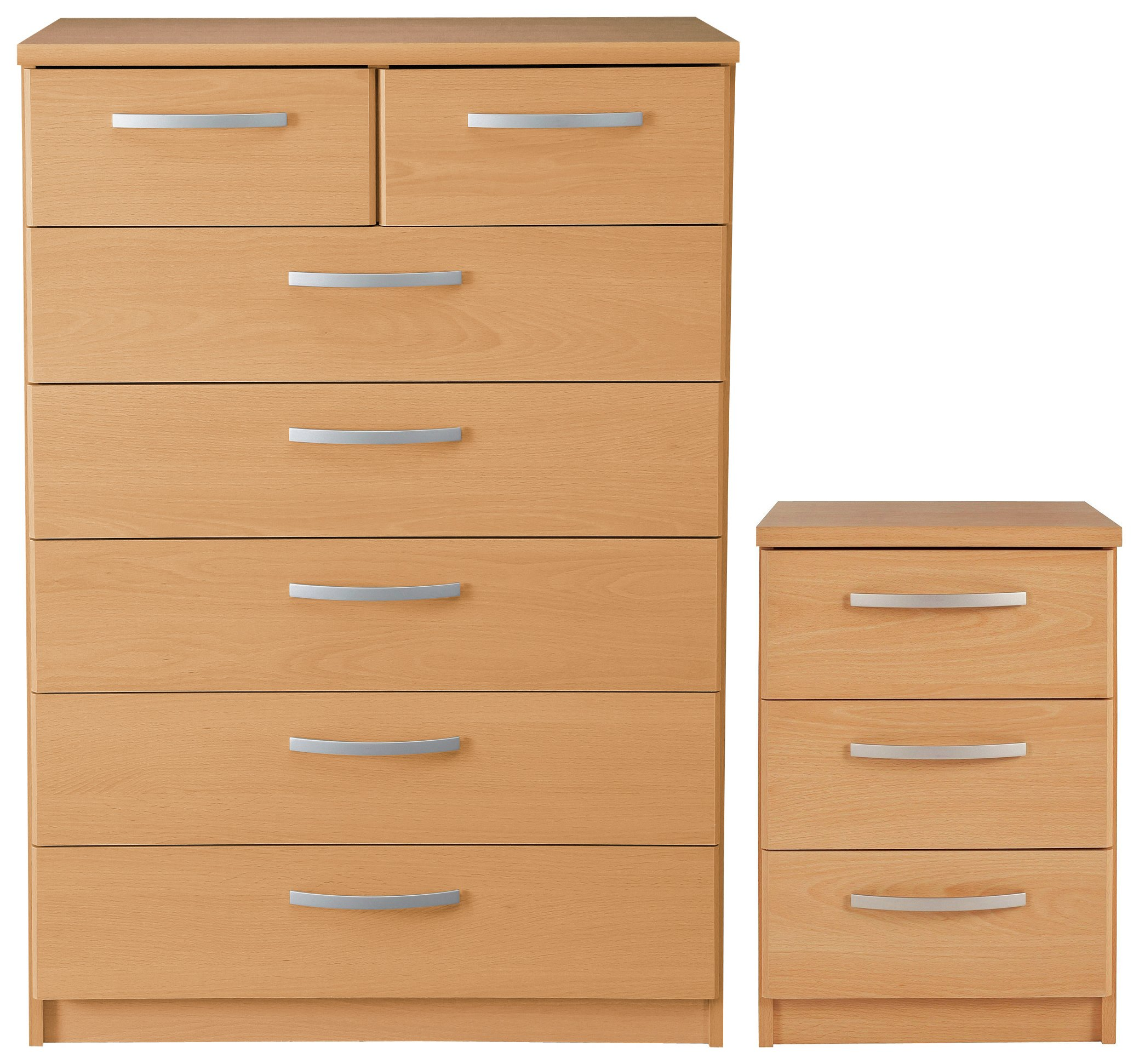 Argos Home New Hallingford Bedside & 5+2 Drw Package - Beech