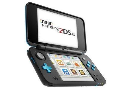 Nintendo 2DS XL Console - Black / Turquoise.